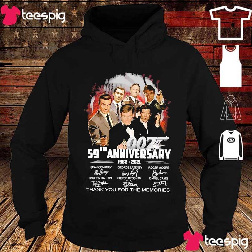 007 59th anniversary 1962 2021 thank You for the memories signatures s hoodie