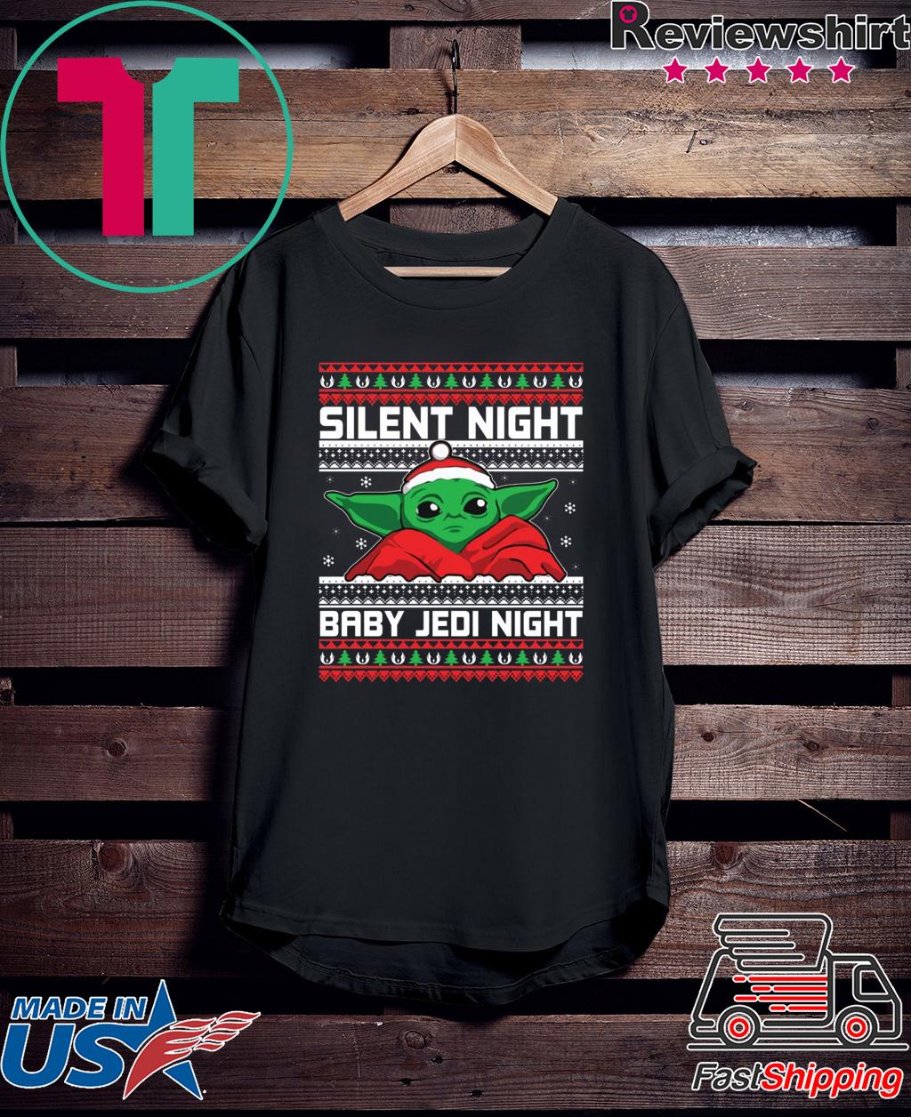 Baby Yoda Silent Night Baby Jedi Night Christmas Shirt