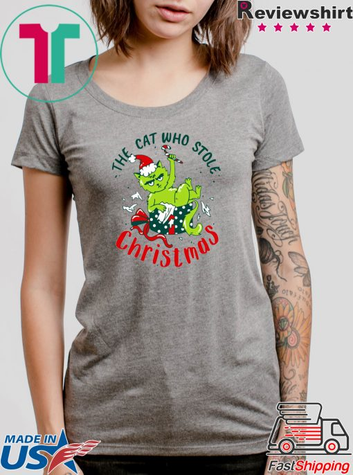 Grinch The cat who stole Christmas Tee Shirts