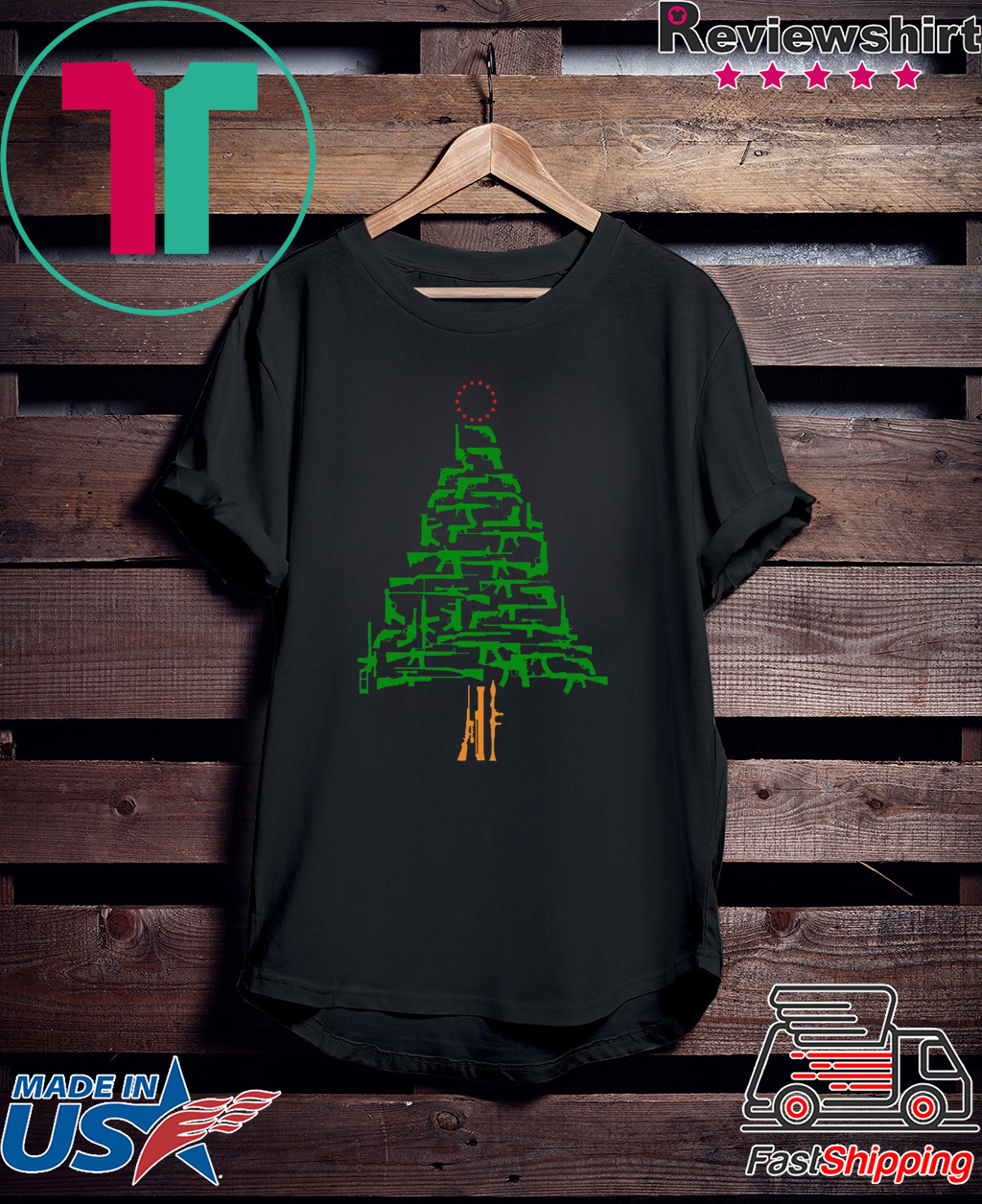 Guns Christmas Tree shirt