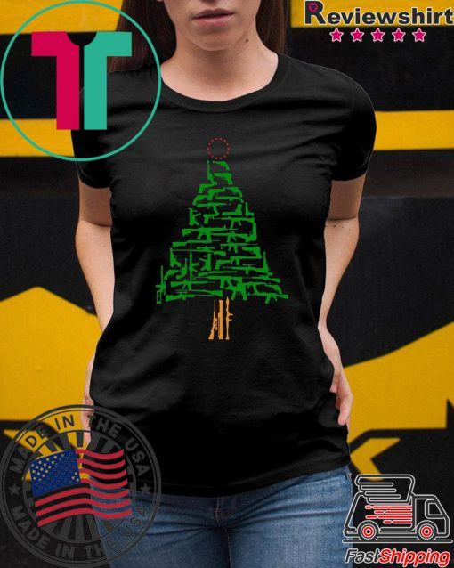 Guns Christmas Tree shirt