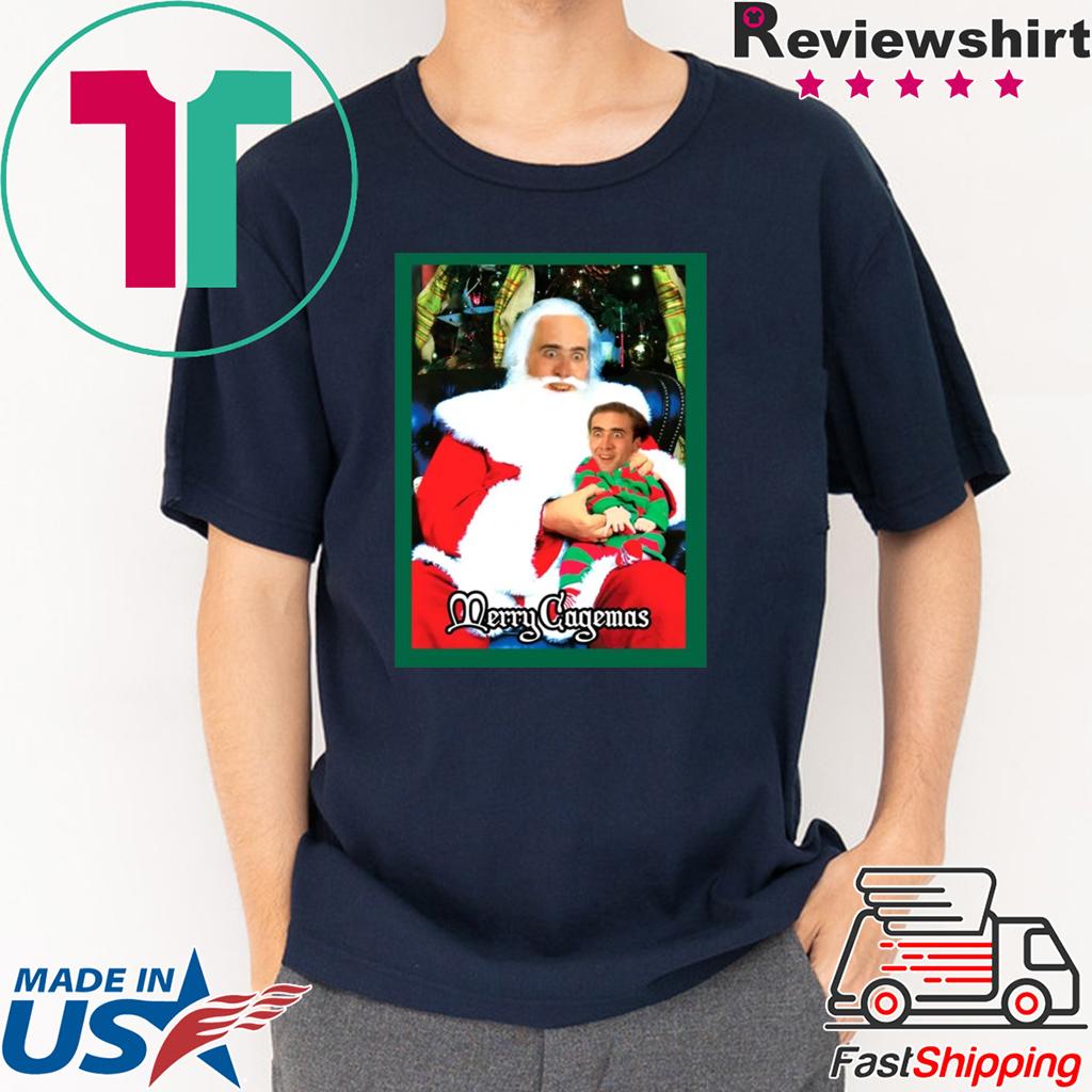 Santa Knee Nicolas Cage Merry Cagemas shirt