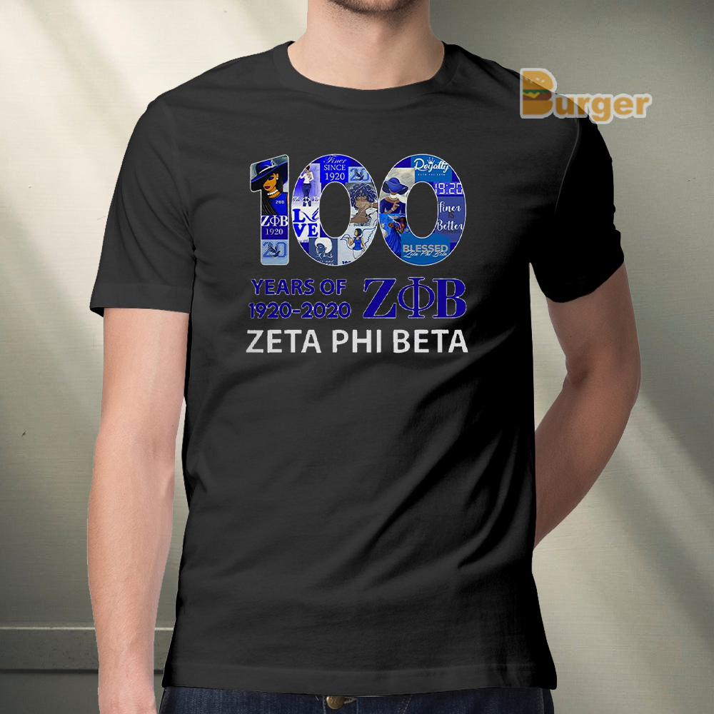 100 years of ZOB Zeta Phi Beta Tee Shirt