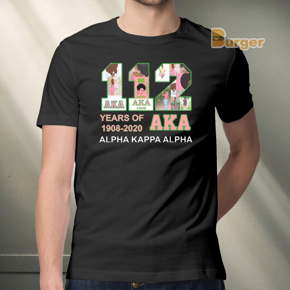 112 Years of Aka Alpha Kappa Alpha 1908 2020 Tee Shirt