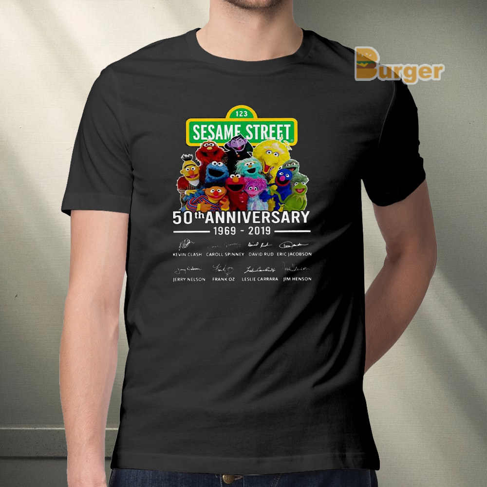 123 Sesame Street 50th Anniversary Signature Tee Shirts