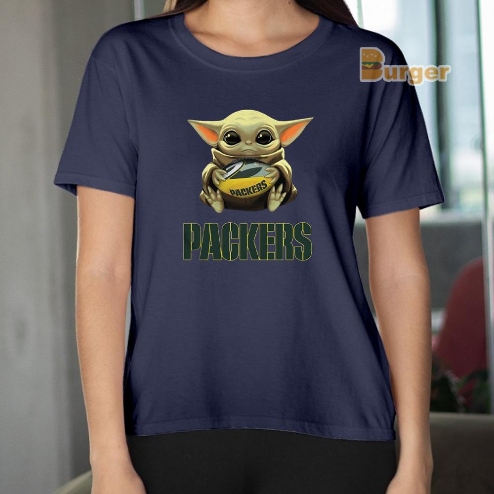 Official Baby Yoda Hug Green Bay Packers Tee Shirts Hoodie Sweatshirt And Long Sleeve