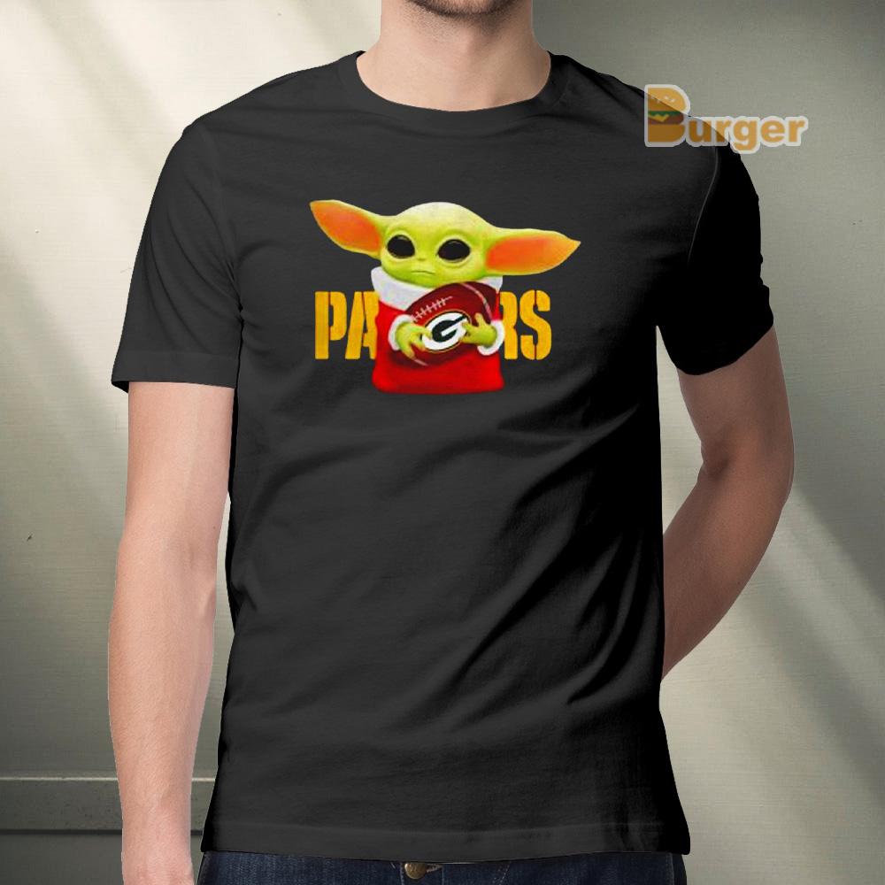 Star Wars Baby Yoda Hug Green Bay Parkers Tee Shirt Hoodie Sweatshirt And Long Sleeve