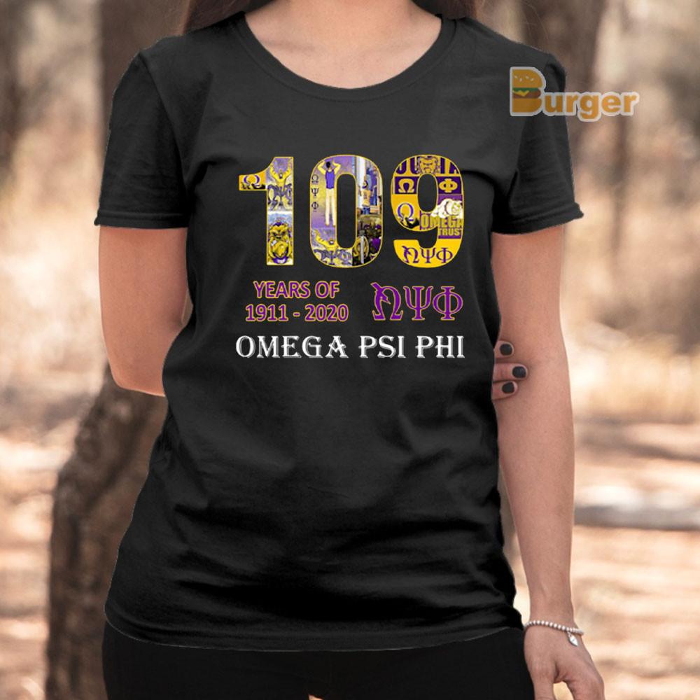 109 YEARS OF NYO 1911 2020 OMEGA PSI PHI TEE SHIRT