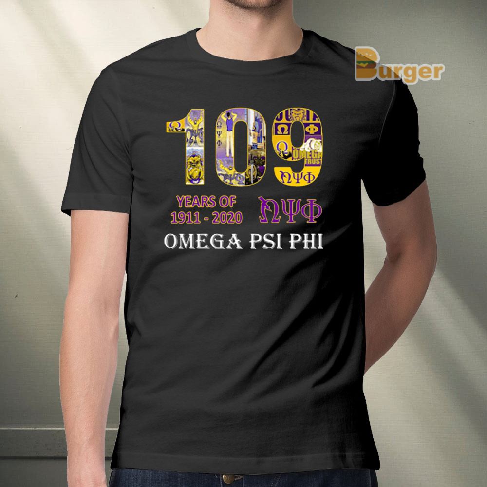109 YEARS OF NYO 1911 2020 OMEGA PSI PHI TEE SHIRT