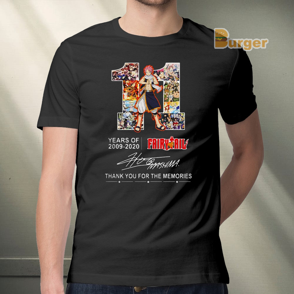 11 Years of Fairy Tail 2009-2020 thank you for the memories Tee Shirt