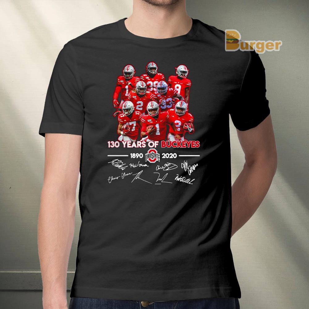 130 years of Ohio State Buckeyes 1890 2020 team signatures Tee Shirt