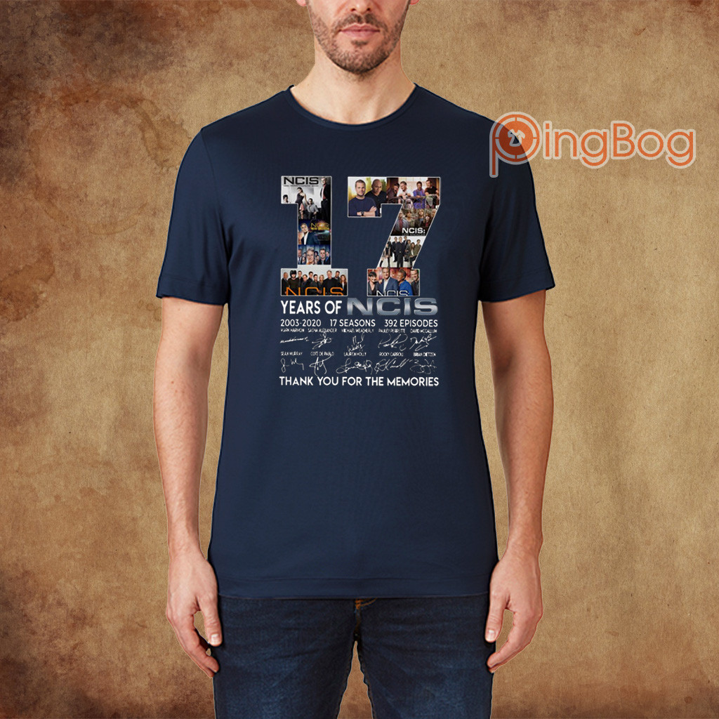 17 Years Of NCIS Thank You For The Memories T-Shirts