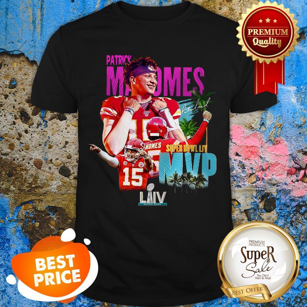 Patrick Mahomes 15 Super Bowl LIV MVP Kansas City Chiefs Shirt