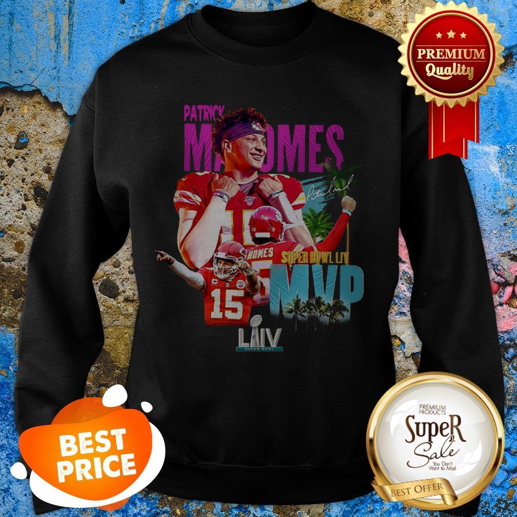 Patrick Mahomes 15 Super Bowl LIV MVP Kansas City Chiefs Sweatshirt