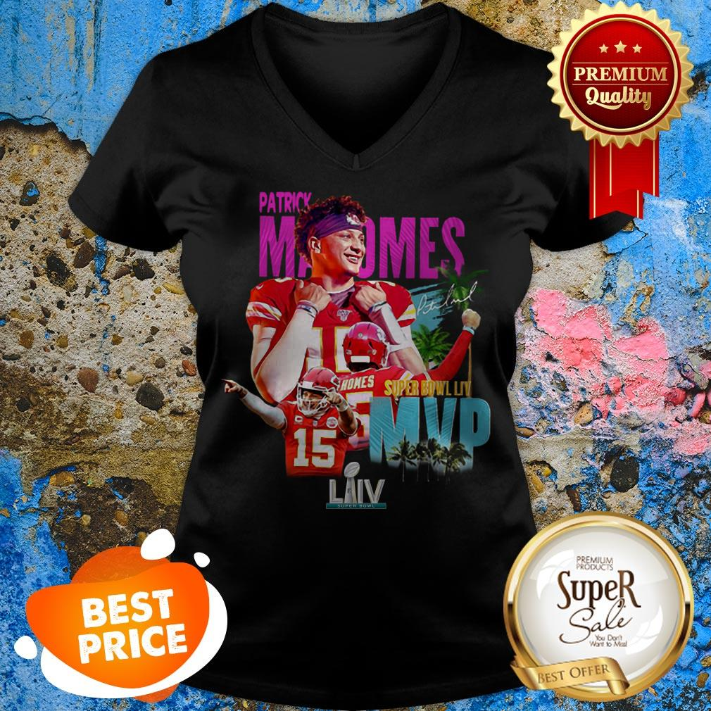 Patrick Mahomes 15 Super Bowl LIV MVP Kansas City Chiefs V-neck