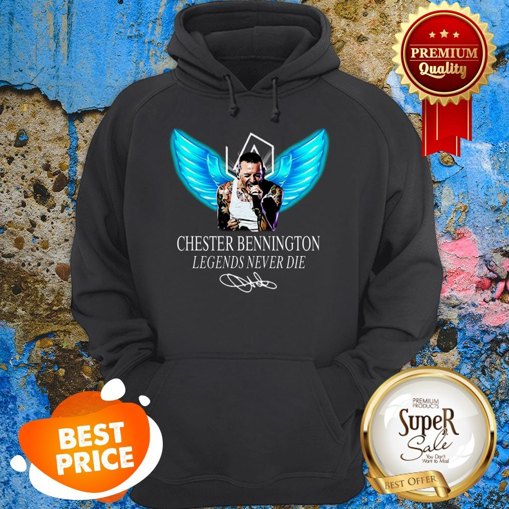 RIP Chester Bennington Legends Never Die Signature Linkin Park Logo Hoodie