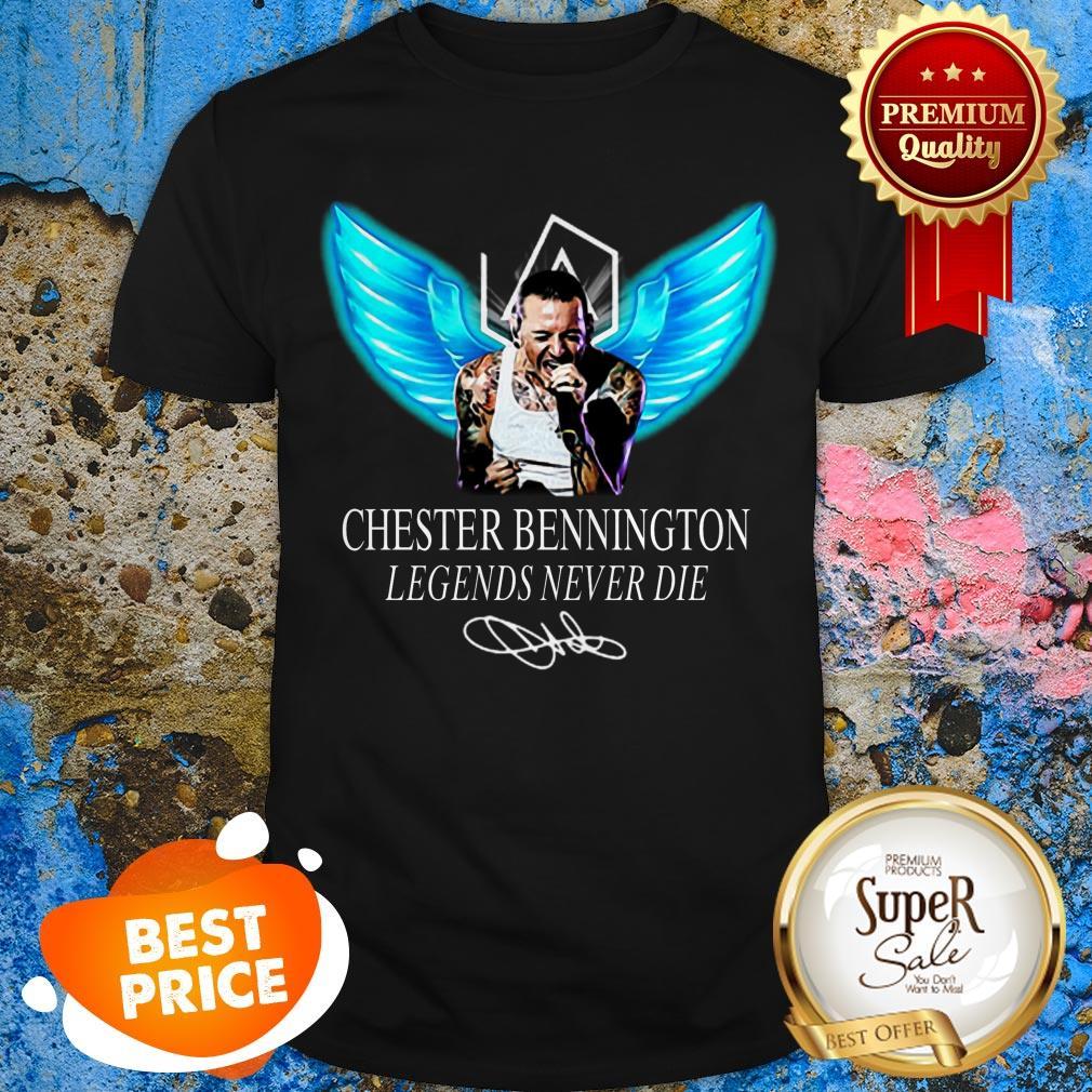 RIP Chester Bennington Legends Never Die Signature Linkin Park Logo Shirt