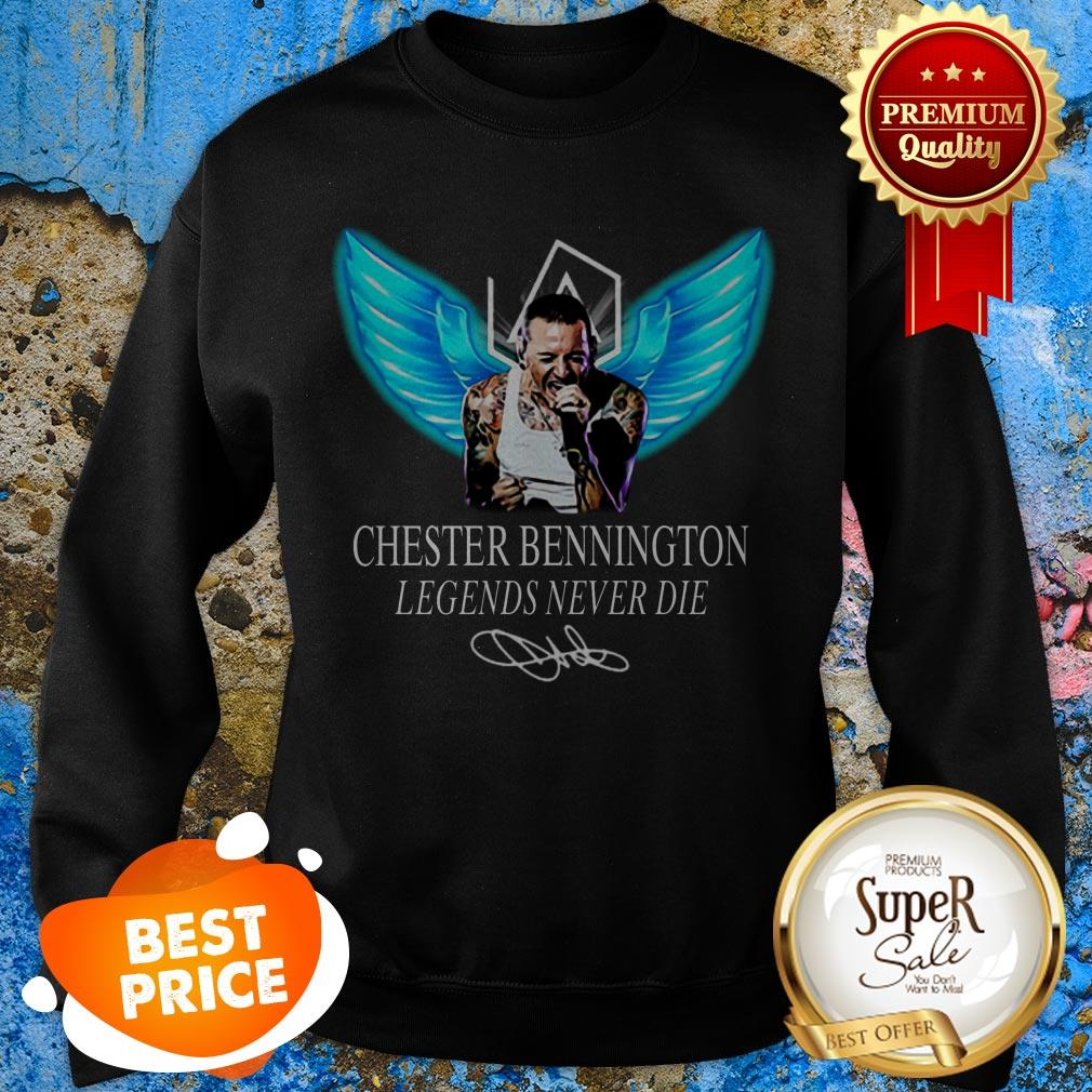 RIP Chester Bennington Legends Never Die Signature Linkin Park Logo Sweatshirt
