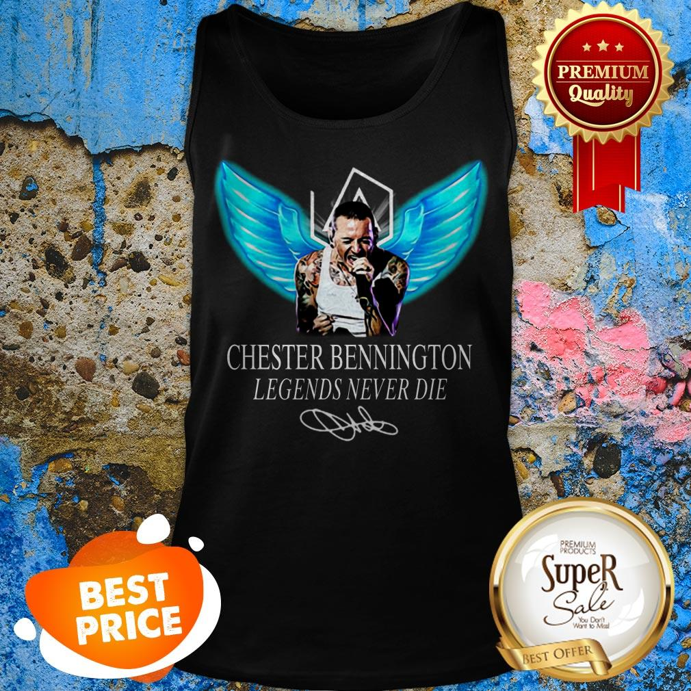 RIP Chester Bennington Legends Never Die Signature Linkin Park Logo Tank Top