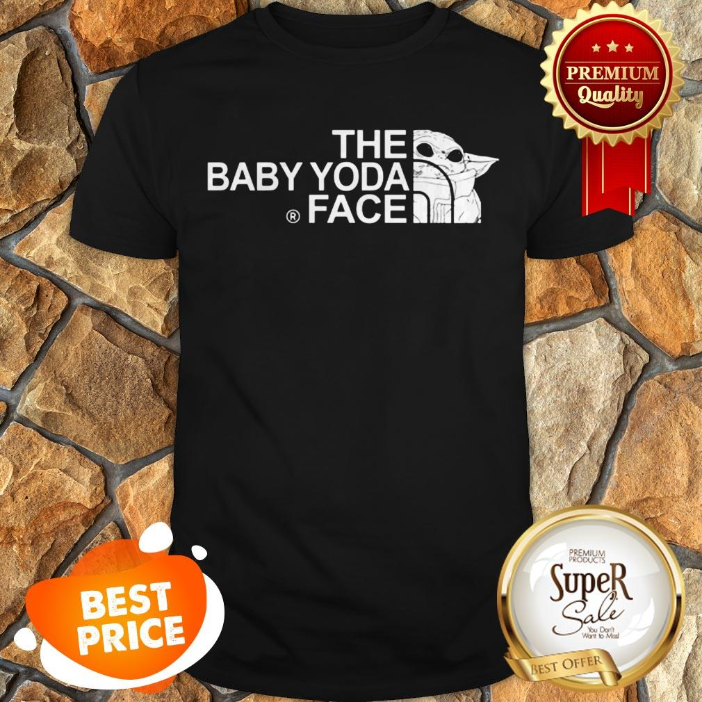 The Baby Yoda Face Mashup The North Face Shirt