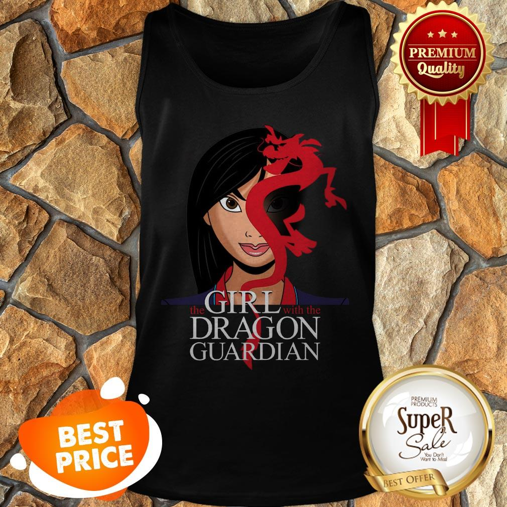 The Girl With The Dragon Guardian Mulan And Mushu Tattoo Tank Top