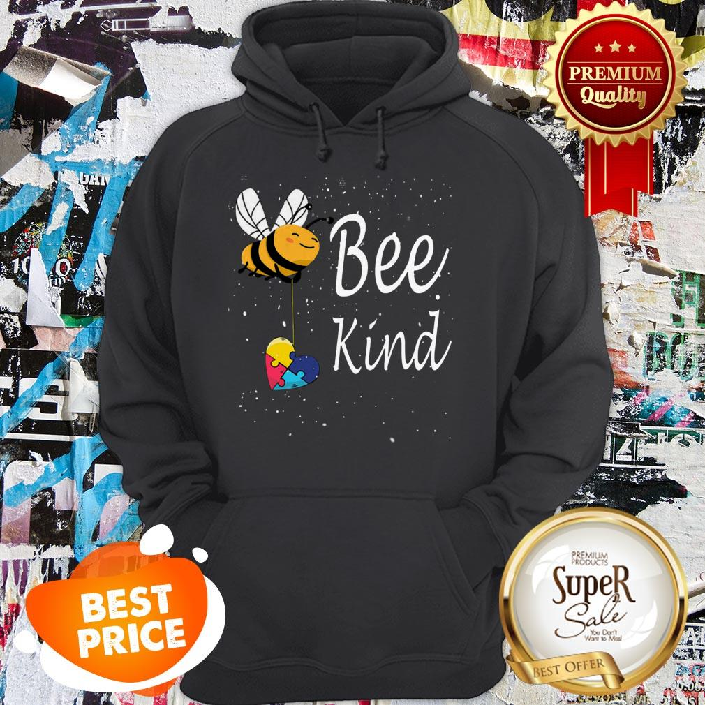 Nice Puzzle Autism Awareness Bee Kind Hoodie