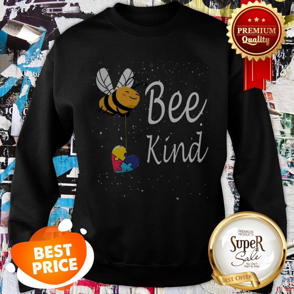 Nice Puzzle Autism Awareness Bee Kind Sweatshirt
