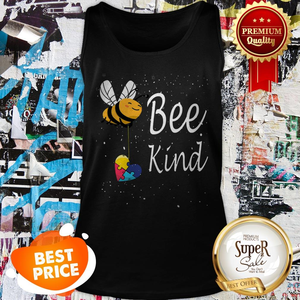 Nice Puzzle Autism Awareness Bee Kind Tank Top