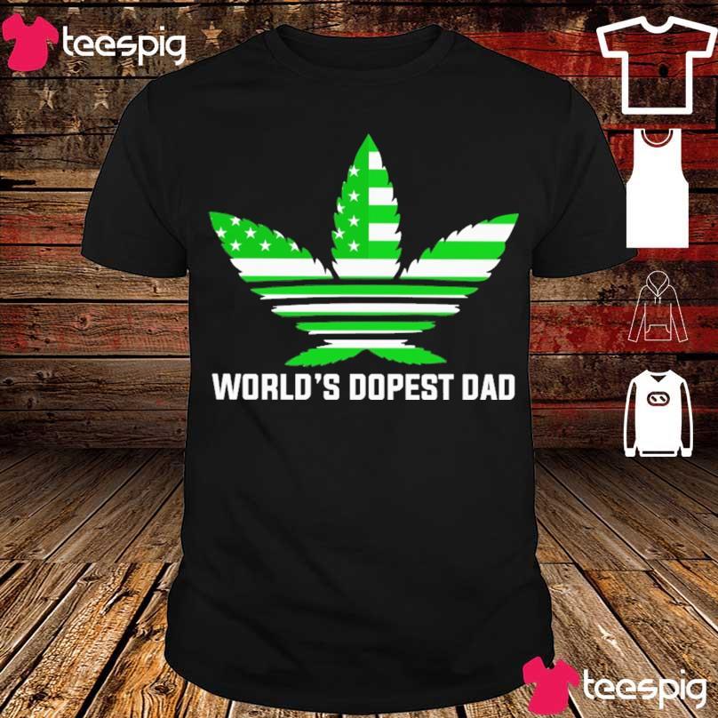 Weed Adidas American world's dopest Dad shirt