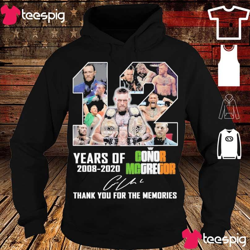 12 year of 2008 2020 Conor Mcgregor signature s hoodie