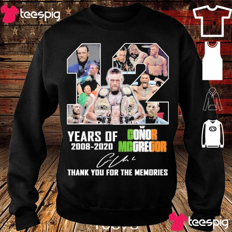 12 year of 2008 2020 Conor Mcgregor signature s sweater