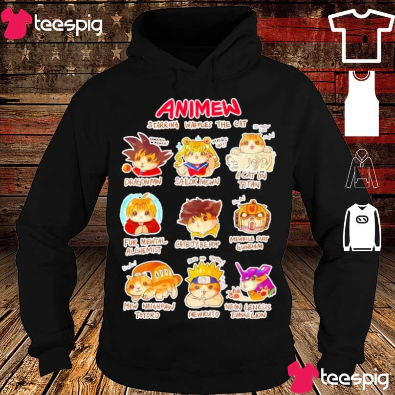 Anime Starring waffles the Cat s hoodie