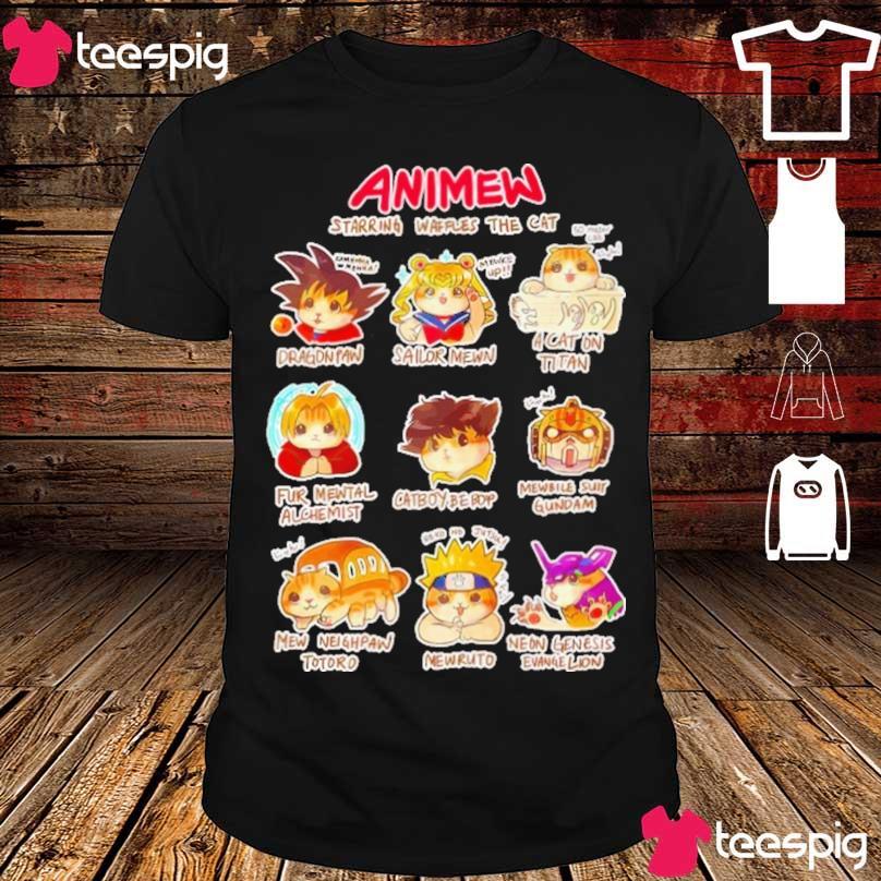 Anime Starring waffles the Cat shirt