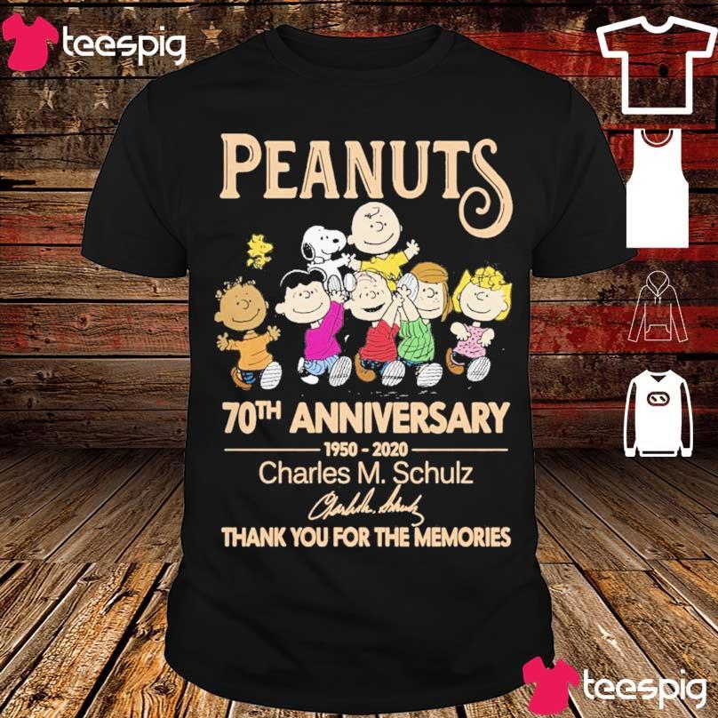 Peanuts 70TH Anniversary 1950 2020 Charles M Schulz signature shirt