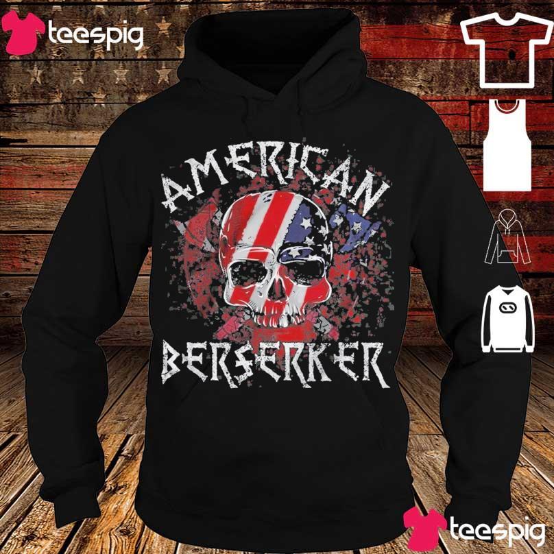 Skull American flag Berserker s hoodie