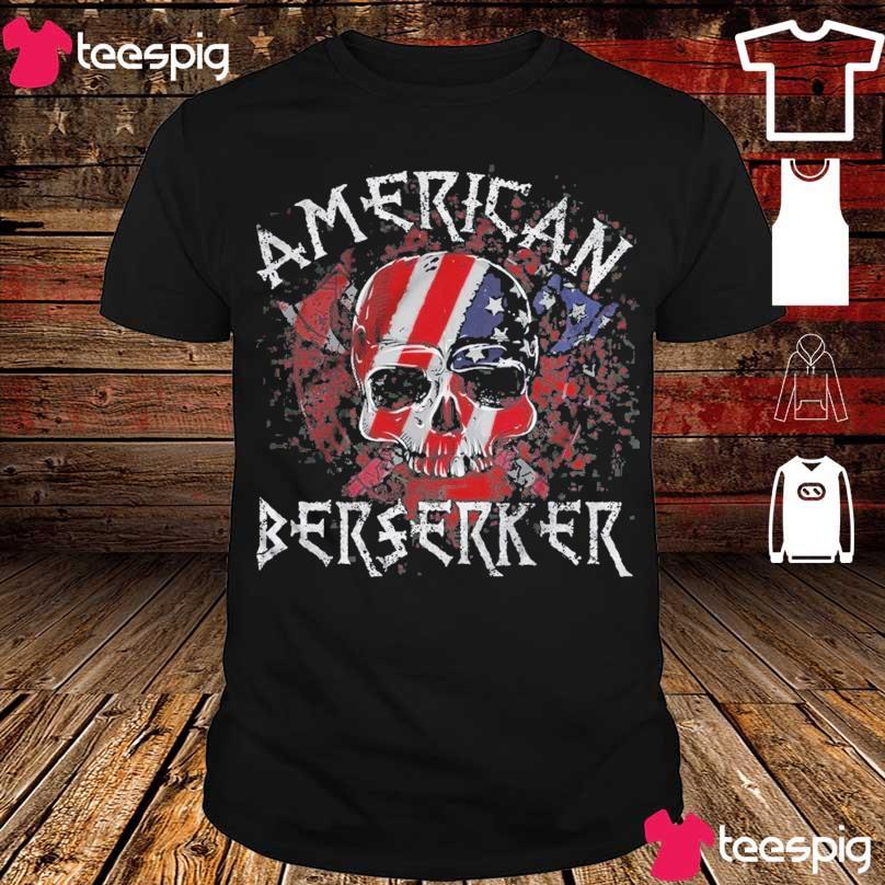 Skull American flag Berserker shirt