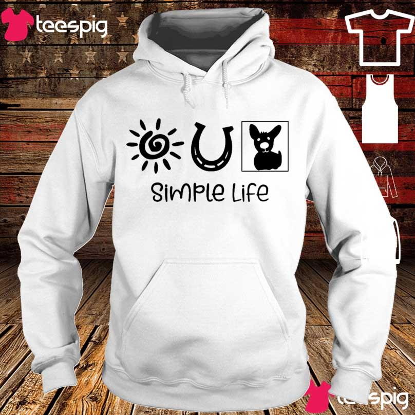 Sun Horseshoe Dog simple life s hoodie