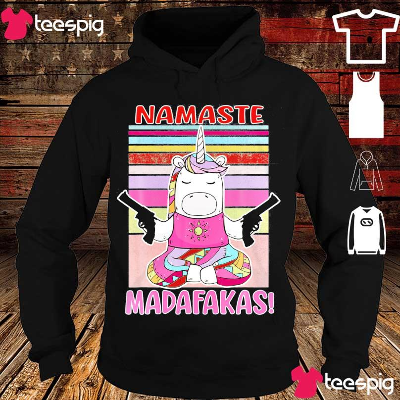 Unicorn namaste madafakas vintage s hoodie