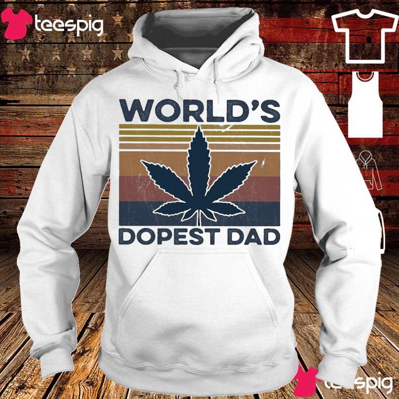 World's dopest Dad vintage s hoodie