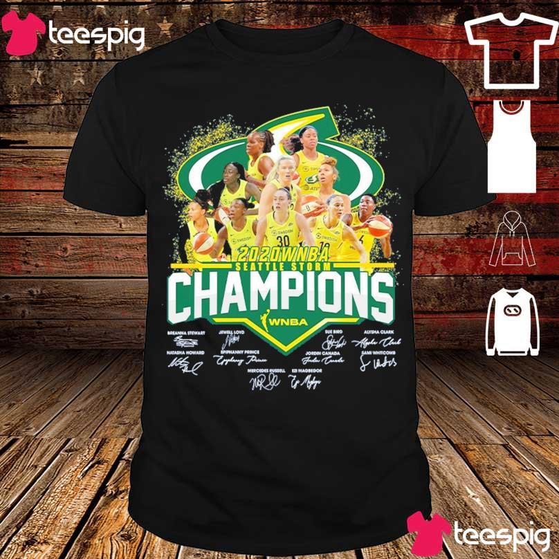 2020 WNBA seattle storm Champions signatures shirt