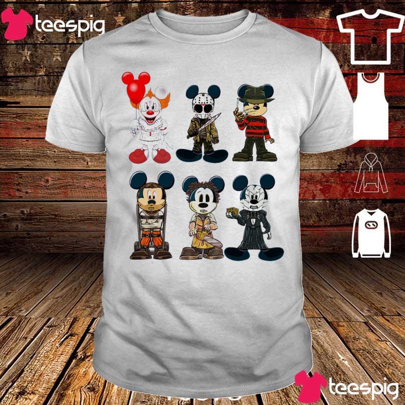 Mickey Mouse Mashup Horror Character shirt