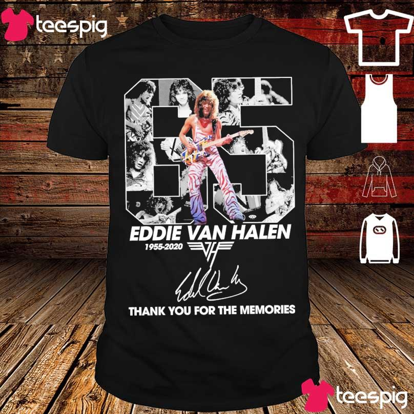 Official 65 year Eddie Van Halen 1955 2020 thank You for the memories signature shirt