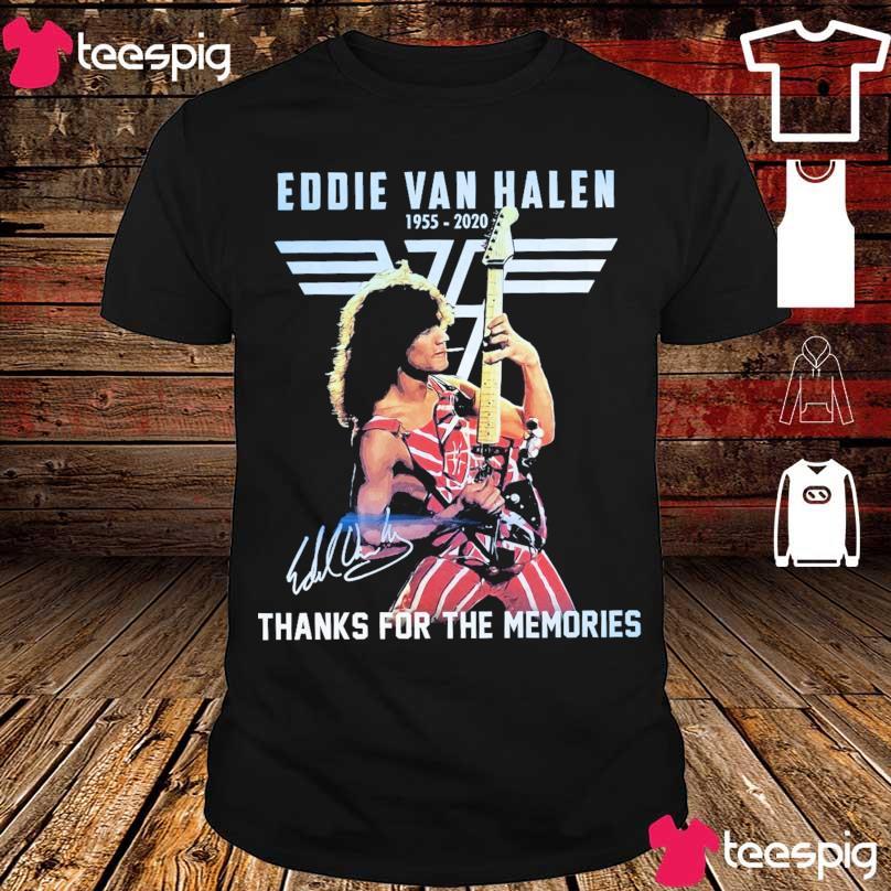 Official Eddie Van Halen 1955 2020 signature thanks for the memories shirt