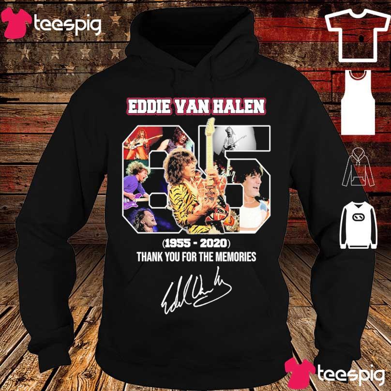 Official Eddie Van Halen 65 year 1955 2020 signature s hoodie