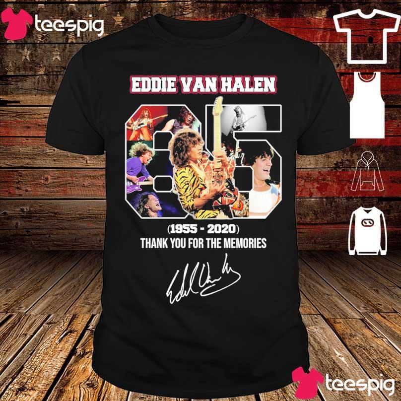 Official Eddie Van Halen 65 year 1955 2020 signature shirt