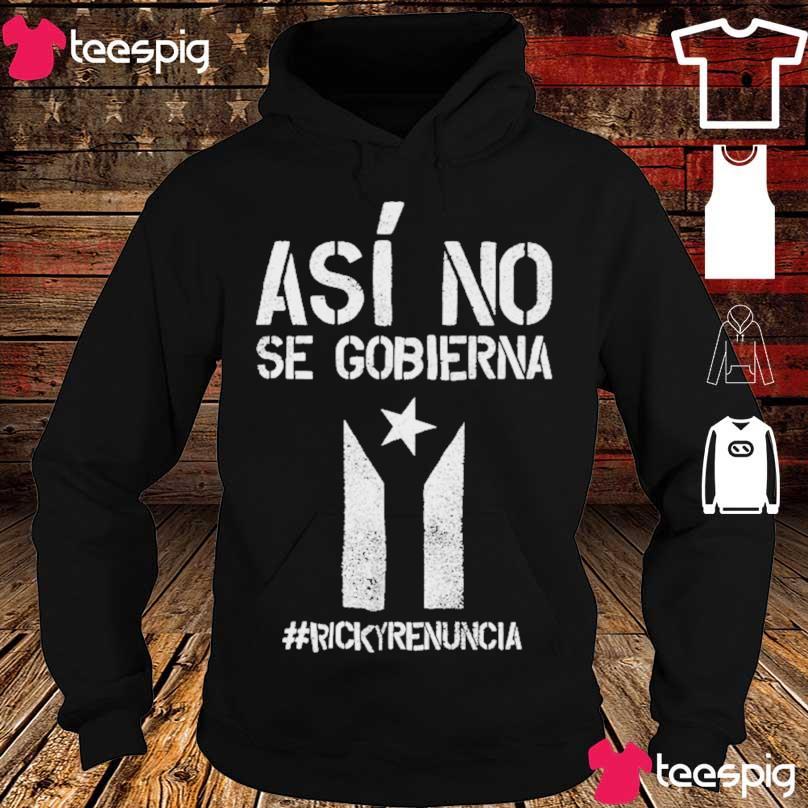 #rickyrenunciaricky Renuncia Bandera Negra Puerto Rico Flag Shirt hoodie