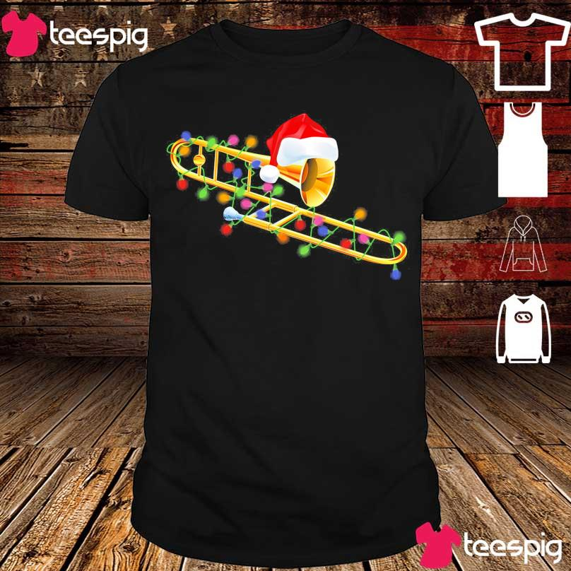 Trumpet Santa light Christmas shirt