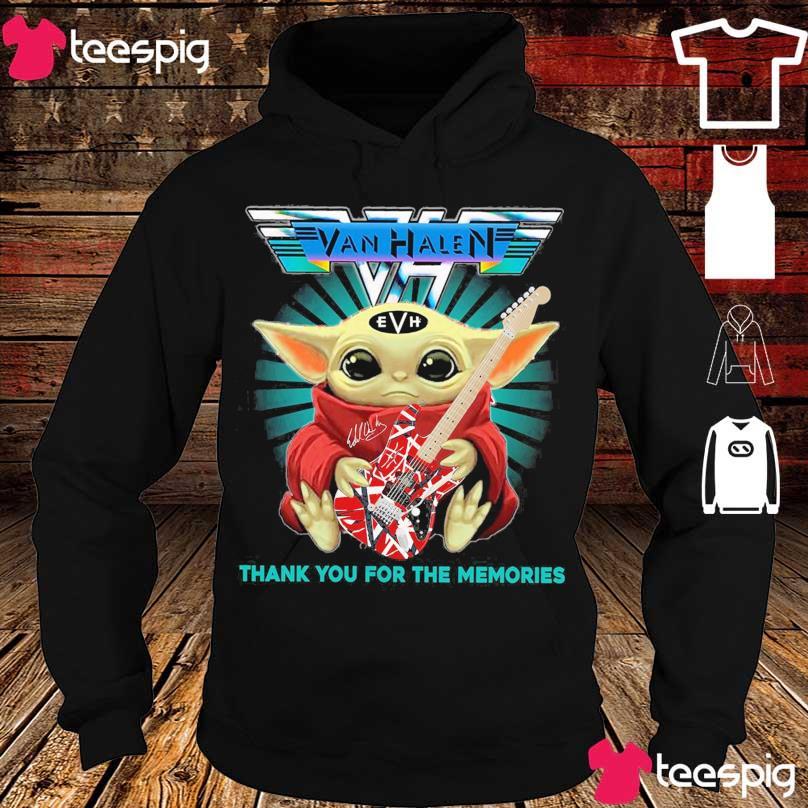 Van Halen Baby Yoda hug Guitar signature s hoodie