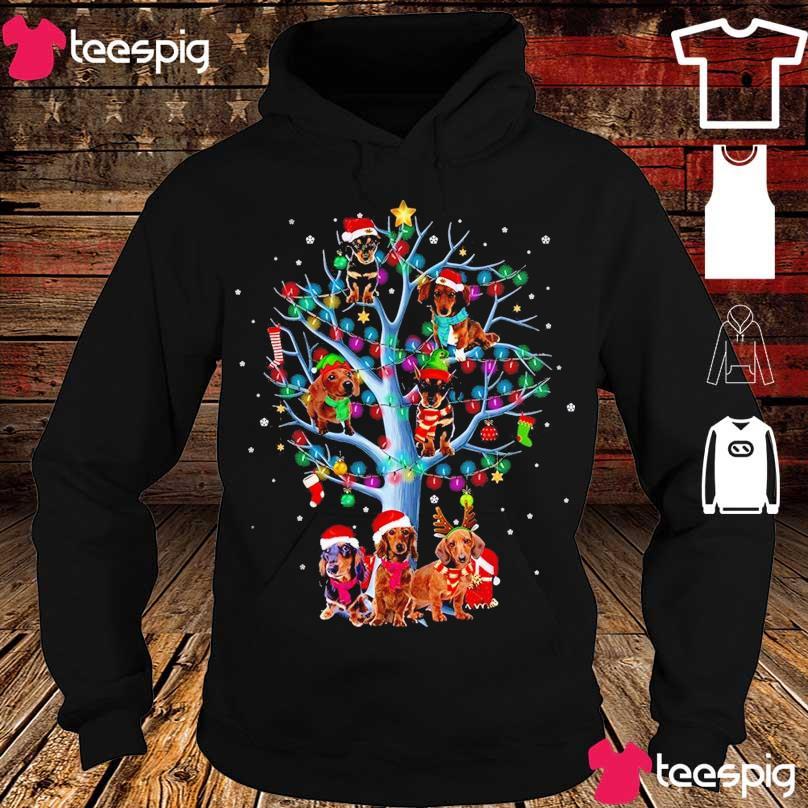 Official Santa Dachshund light Christmas s hoodie