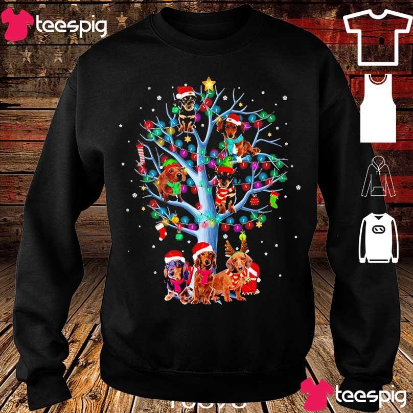 Official Santa Dachshund light Christmas s sweater